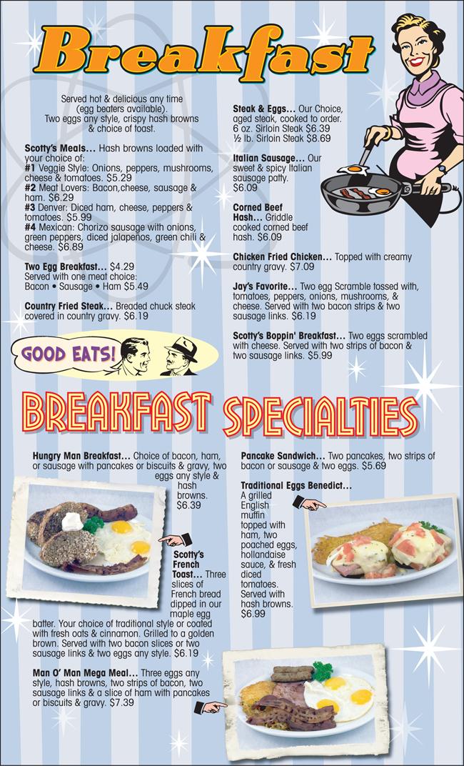 Great Scotts Eatery Menu Eagleye Creative